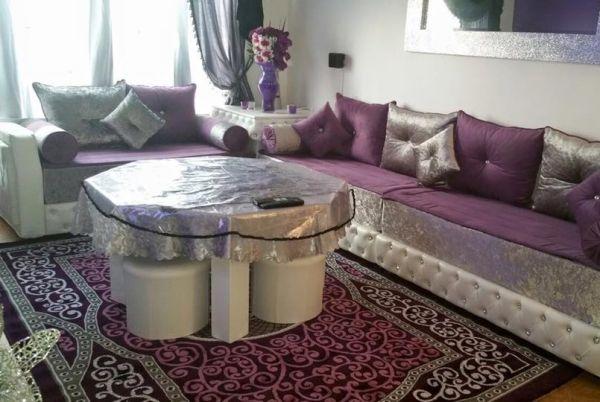 Salon marocain oriental design moderne pas cher bledyshop - Decoration salon pas cher ...
