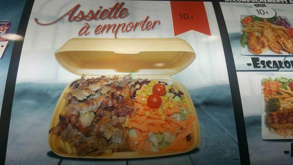 Assiette à emporter, Gerland Kebab, Lyon, Bledyshop
