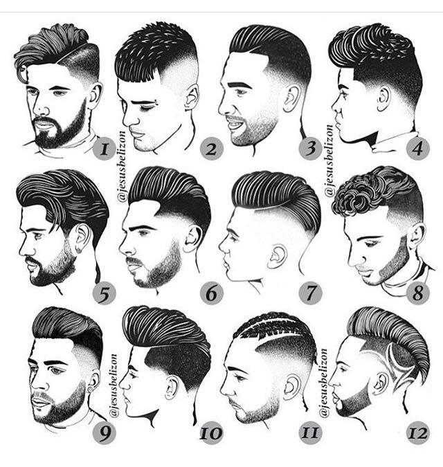 Différentes coupes de cheveux pour homme, Coiffeur de commerce chez nabil, Nantes