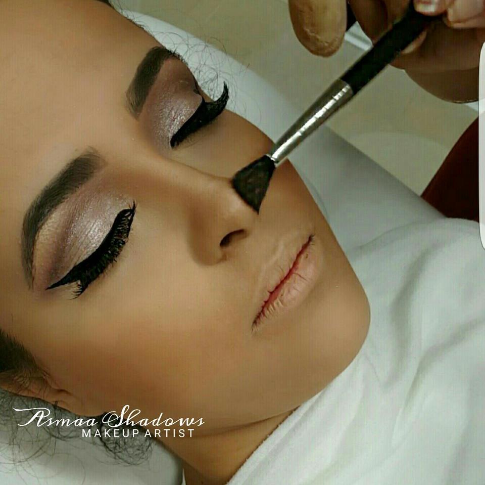 Maquillage au pinceau, Asmaa Shadows Makeup Artist, bledyshop