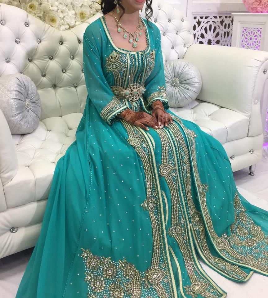 Mariée habillé de vert, Wedding Story - Negafa Fatima, bledyshop