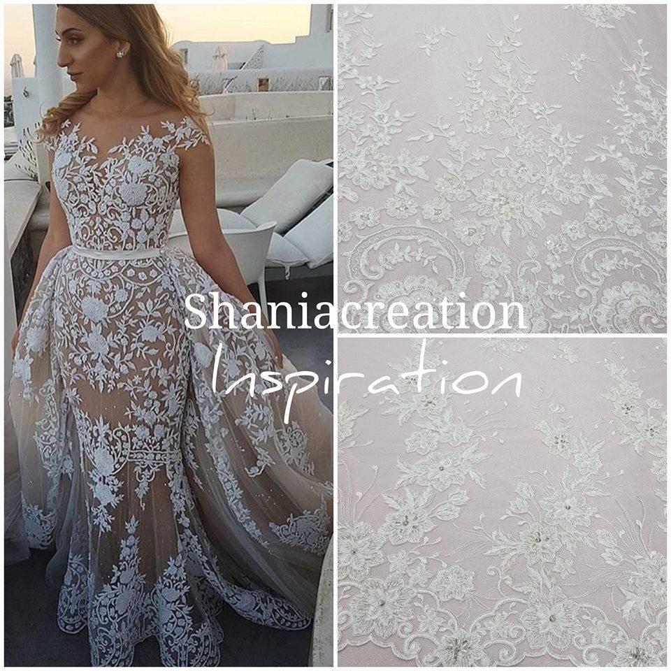 Robe de mariée en dentelle, Negafa Caftan Shania Création créatrice