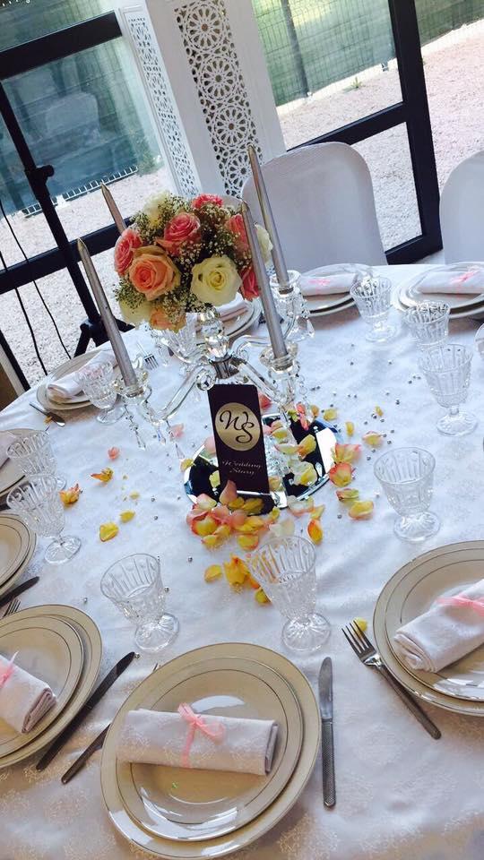 Table mariage, Wedding Story - Negafa Fatima, bledyshop
