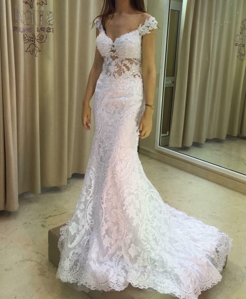 robe de mariée syrène, Espace Nour de Sihem msaddak, bledyshop