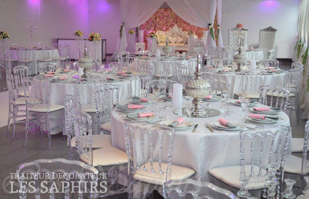 décoration salle de mariage,Traiteur Décorateur Les Saphirs, bledyshop
