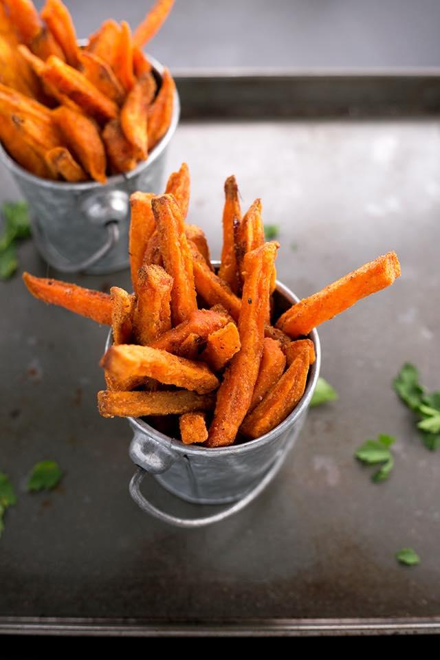 frites patates douces, Garden Burger Annemasse, bledyshop