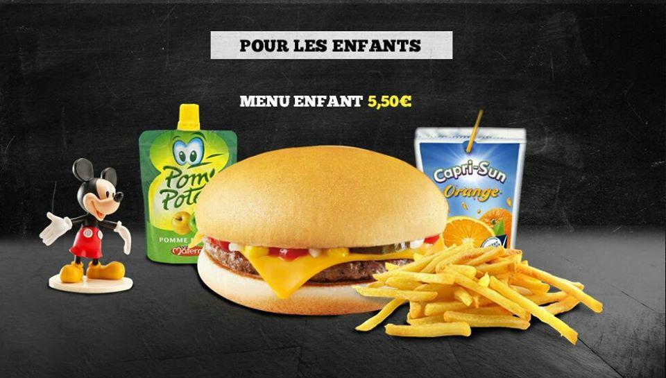 menu enfant, Chapati Burger livraison, bledyshop