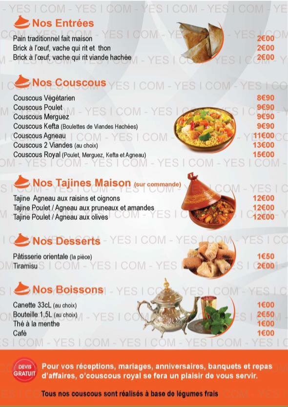 menu, o couscous royal, bledyshop