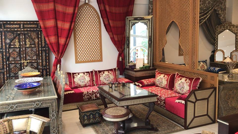 salon marocain rouge gallery of salon marocain en couleur