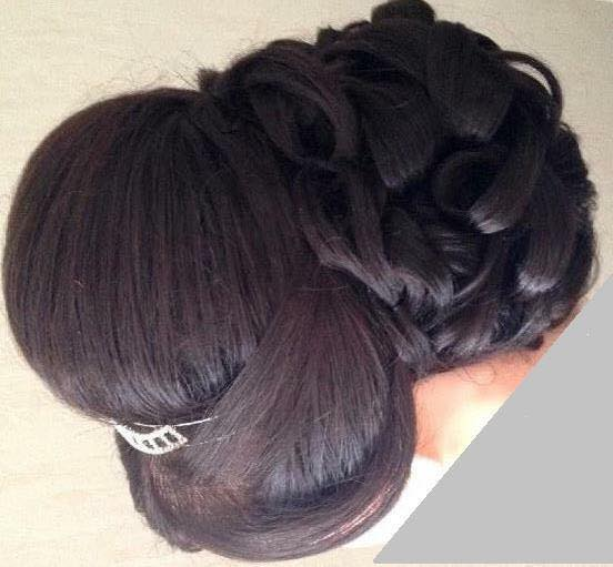 Chignon, Coiffeuse maquilleuse marseille lissage ongle cire, bledyshop